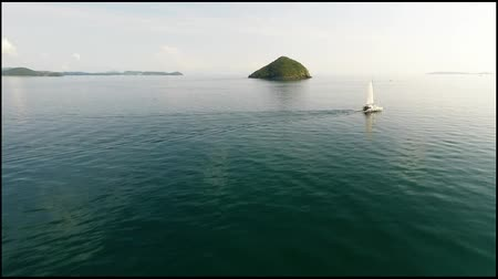 Острова : Aerial Panoramic Of A Island. Thailand.