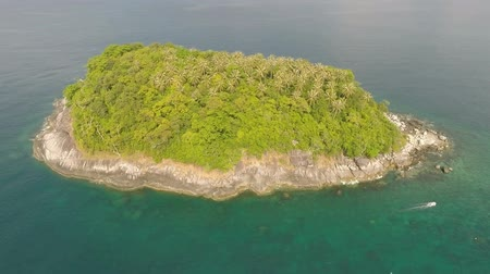 manzaraları : Tropical island. Aerial shot. Stok Video