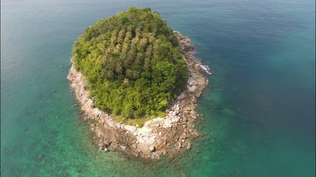 insel : Aerial Panoramablick von A-Insel. Thailand. Videos