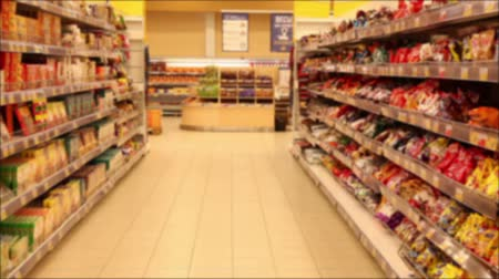 lojas : Supermarket Section With Products. De Focused.