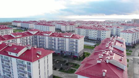 Residential quarter by the sea in Sochi. Russia.