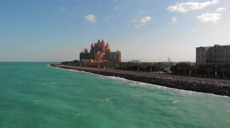View of the luxury hotel Atlantis The Palm in Dubai. Stock Footage