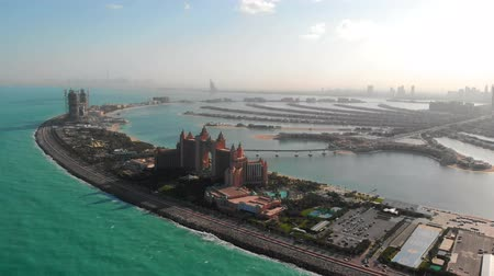 View of the island of Palm Jumeirah in Dubai.