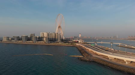 Panorama of the Dubai Eye Ferris Wheel on the Bluewaters Island.