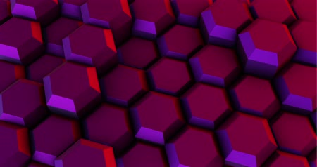 bijenkorf : Abstract Magenta Hexagon Geometric Surface