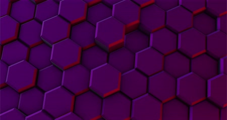 интегрированный : Purple Background of Hexagons Moves in a Circle