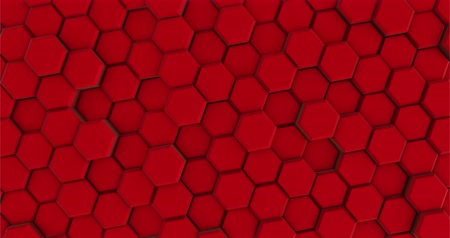 integrált : Red Background of Hexagons Moves in a Circle Stock mozgókép