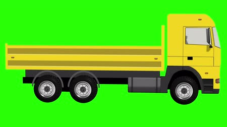 axle : Yellow Truck With Spinning Wheels