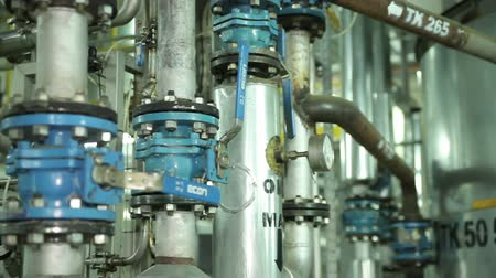 pompki : The System Pipe With Valves in Manufacturing of Vegetable and Industrial Oils