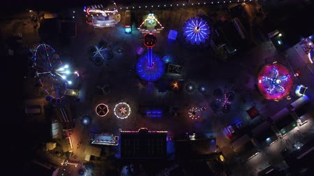 akció : Flying over the amusement park at night