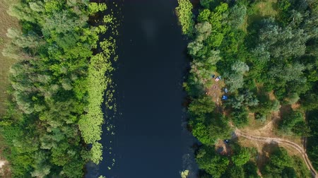 havai : Flying drones over the river. Aerial survey