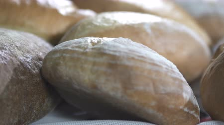 gevrek : Fresh Baked Bread at the Bakery Stok Video