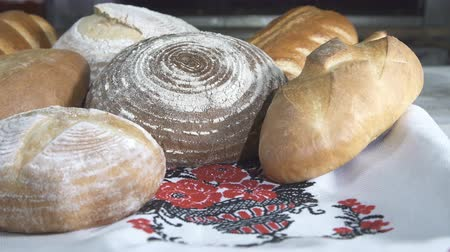 bagietka : Fresh Baked Bread at the Bakery Wideo