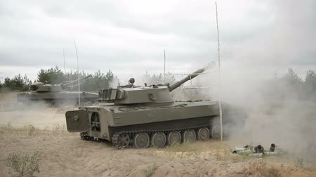 銃 : Shot self-propelled artillery 122 mm