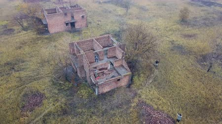 abandoned old : Abandoned village. Aerial survey