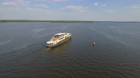 hajózik : Ukraine, Dnipro - 26 August, 2018: Pleasure boat Felicita
