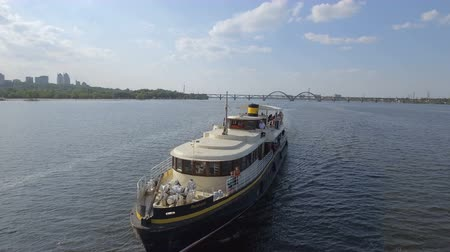 Ukraine, Dnipro - 26 August, 2018: Pleasure boat Felicita