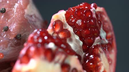roma : The inside of a ripe grain pomegranate