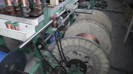 serpentina : Winding of a wire on a bobbin Stock Footage