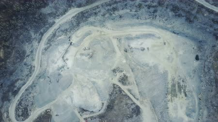 taş ocağı : Flying over a stone quarry