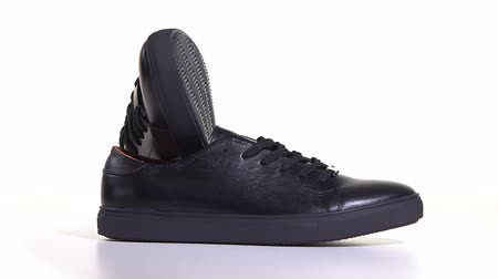 obuwie : Mens Black Sneakers With Laces