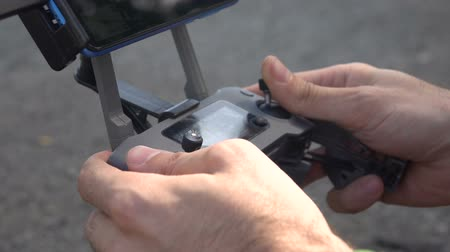 propeller toy : In the hands of the quadrocopter control panel