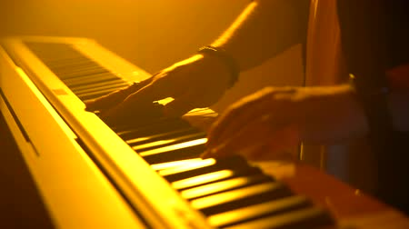 skladatel : The musician plays the keyboard. Close-up Dostupné videozáznamy