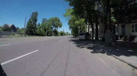 pursue : DNIPRO, UKRAINE MAY 29, 2018: Road traffic along Dnipro
