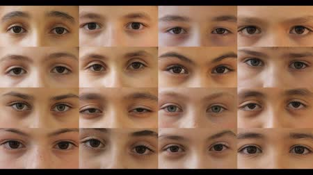 childrens : Childrens Eyes, 4K (4096x2304) Stock Footage