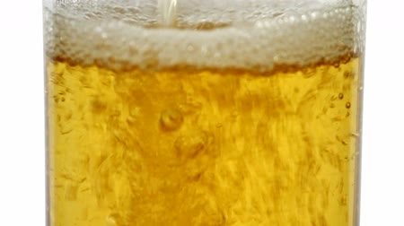 cerveja : Pouring beer close-up Vídeos