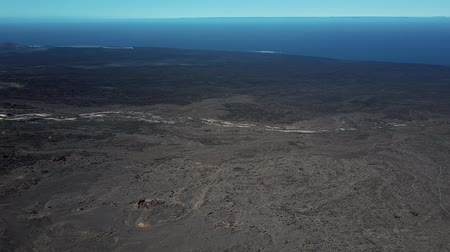 wasteland : Round aerial panorama made near Timanfaya National Park, Lanzarote, Canary islands, Spain