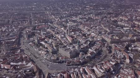 венгерский : Aerial panorama of old town Sopron, Hungary. Original untouched LOG format.