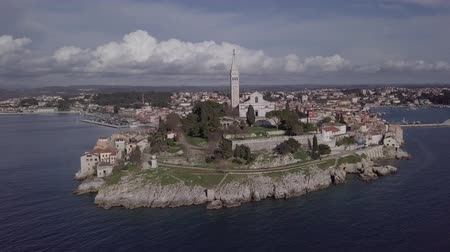 flying sea gull : Flight around old town Rovinj, Istria, Croatia. Original untouched LOG format.