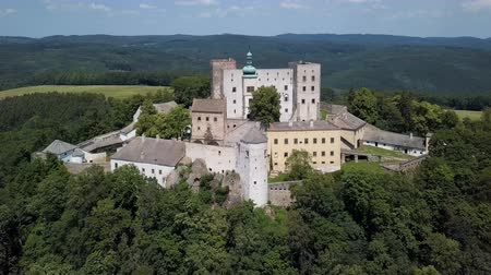 čeština : Aerial view of Buchlov royal castle, Moravia, Czech Republic