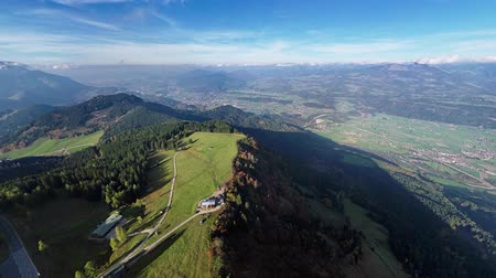 íngreme : 360 degrees aerial panorama of Rossfeld Panorama road, Berchtesgadener Land, Bavaria, Germany Stock Footage