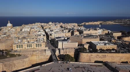 triton : Flight around of Valletta old town and City Gate, Malta