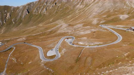 enrolamento : Hyper lapse of Fuscher Torl pass on Grossglockner scenic High Alpine Road, Austria Stock Footage