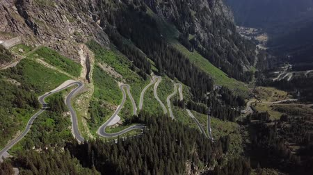 Flight over of Silvretta-Bielerhohe High Alpine Road in Vorarlberg, Austria.