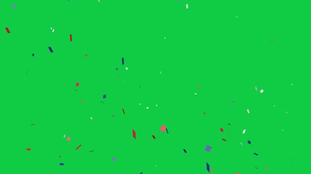 president of united states : 4th of July confetti with the American flag colors. United State Independence day. Blue, red and white confetti green screen.