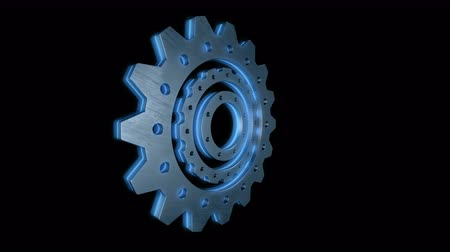 csavarkulcs : Gear, cogwheel glow animation in PNG format with ALPHA transparency channel