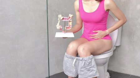 wanna : woman with colorectal cancer in the toilet