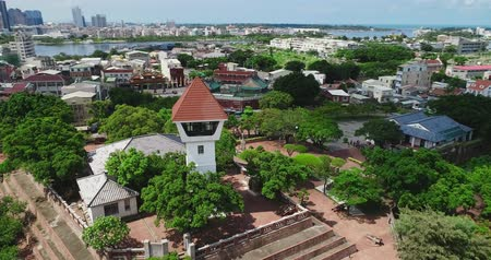 tainan : tainan, taiwan - june 26, 2018: aerial shot of Anping Fort