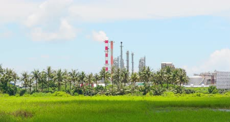 tainan : Tainan, Taiwan - June 29, 2018: factory with air pollution concept