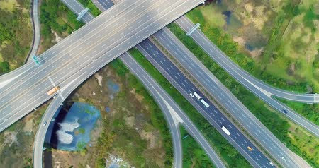 tainan : Tainan, Taiwan - July 09, 2018: aerial view of highway interchange