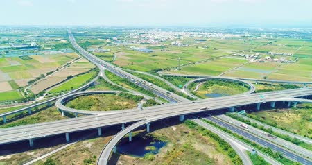 passagem elevada : Tainan, Taiwan - July 09, 2018: aerial view of highway interchange