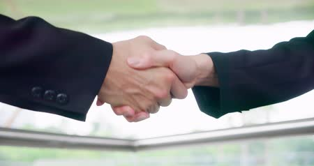egyetért : slow motion of businesspeople handshake after a meeting
