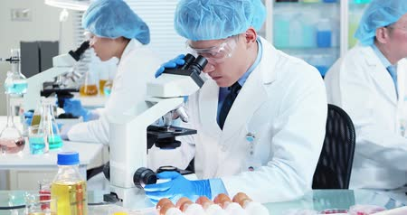 espécime : asian scientist team has researching about food in the laboratory