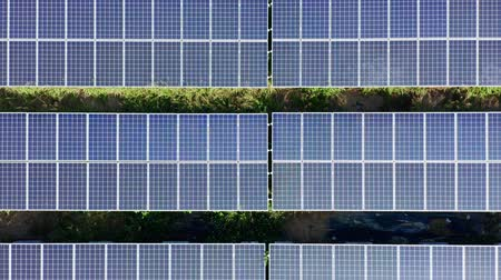 tainan : aerial shot of solar panels and cell Platform