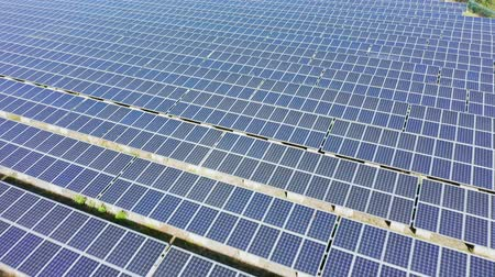 tainan : solar panels and cell Platform shot by drone