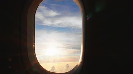 alkony : sunset view out of the airplane window